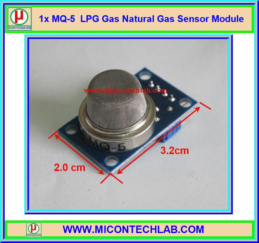 1x แก๊สเซ็นเซอร์ MQ-5 LPG Gas Natural Gas Sensor MQ5