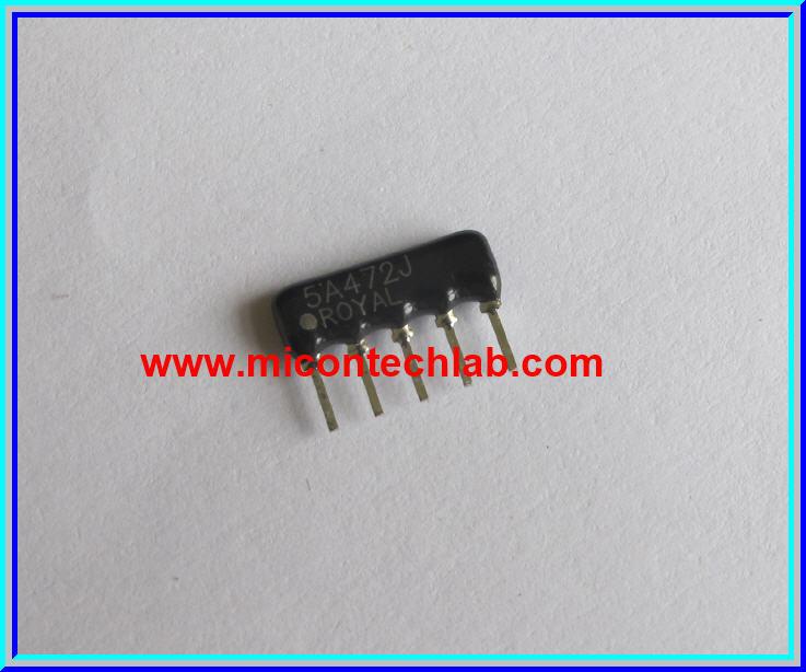 1x Resistor Network 4.7 Kohm 1/8W 5% R-Network 5 PIN Royal Ohm