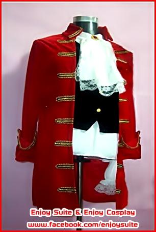 ชุดโจรสลัดอังกฤษสีแดง / ชุดเจ้าชาย