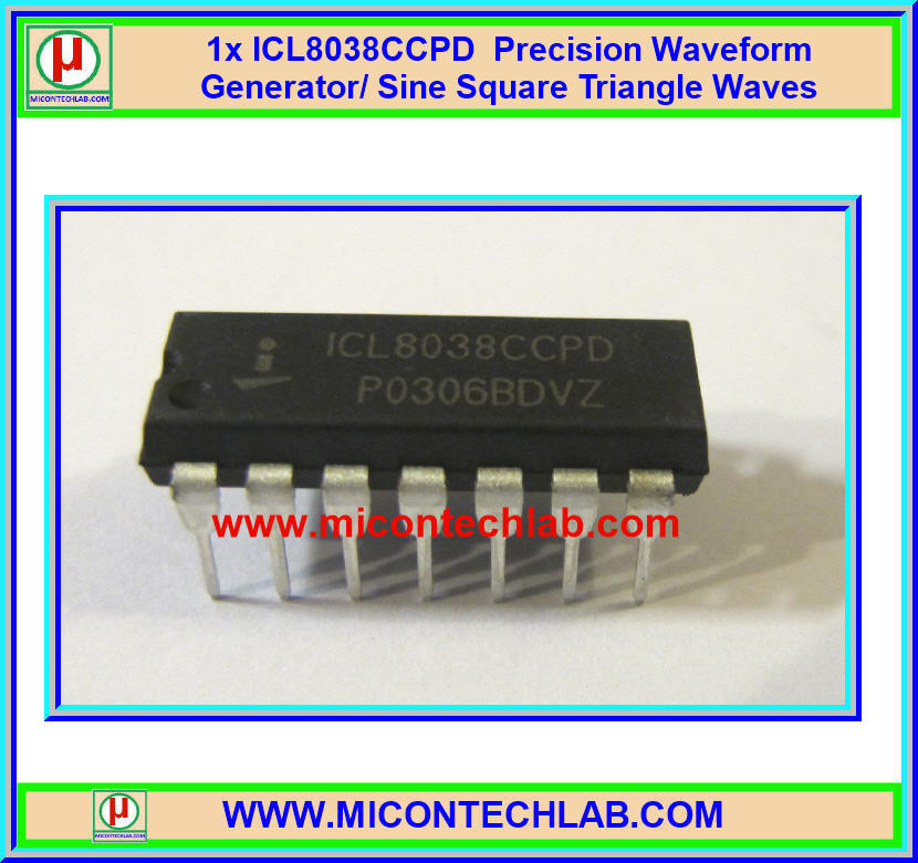 1x ICL8038CCPD Precision Waveform Generator / Sine Square Triangle Wave ICL8038 IC Chip