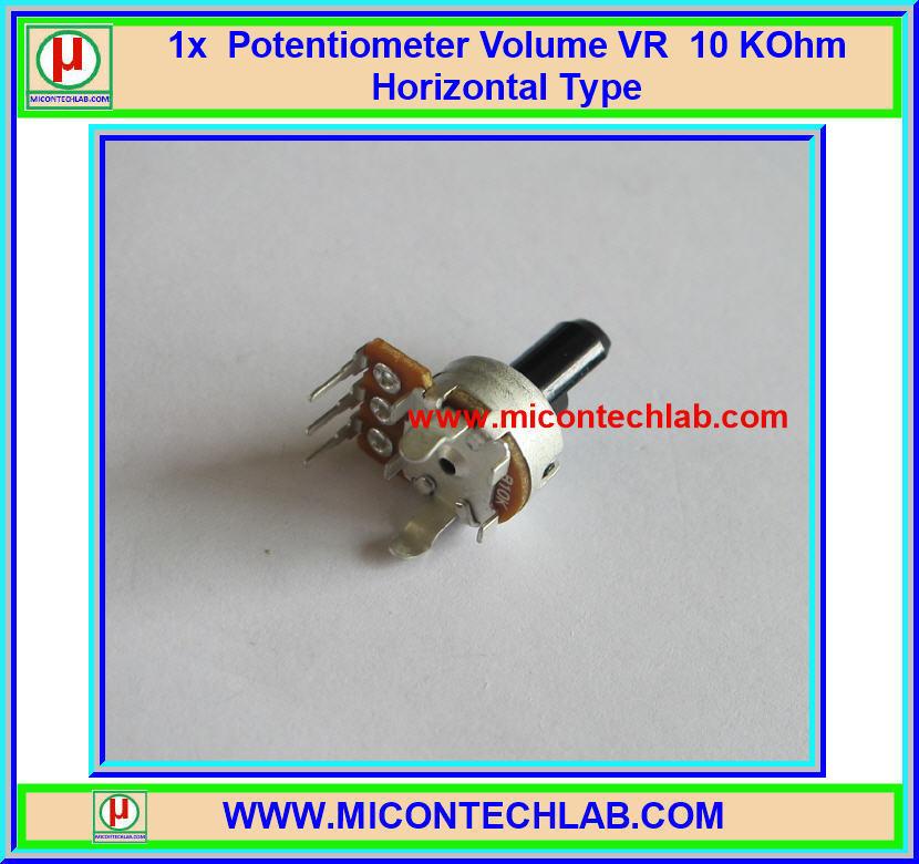 1x Volume VR Potentiometer 10 KOhm Resistor Horizontal Type