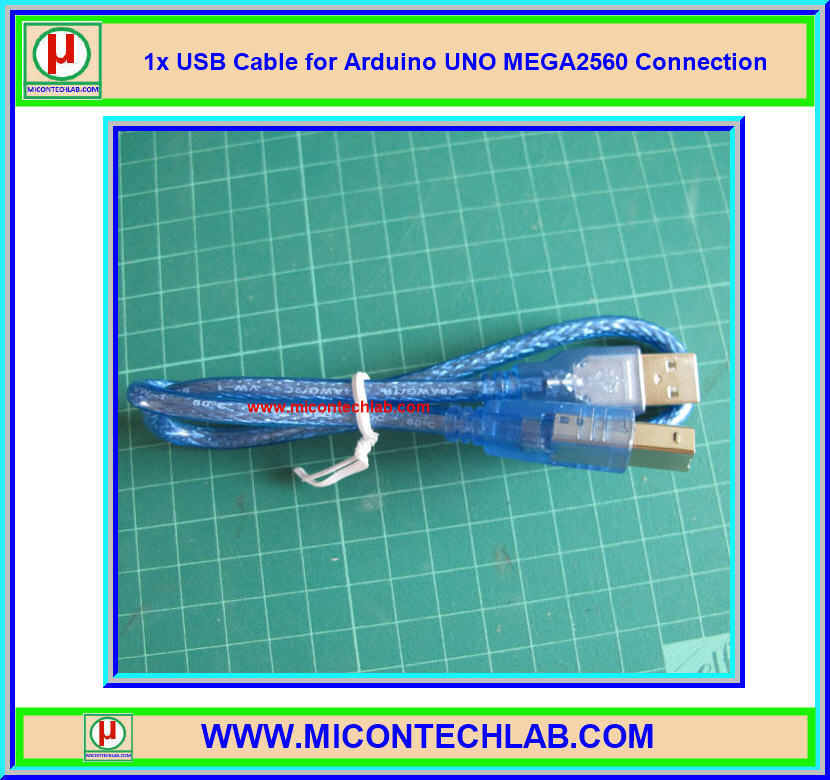 1x USB Cable for Arduino UNO MEGA2560 Connection