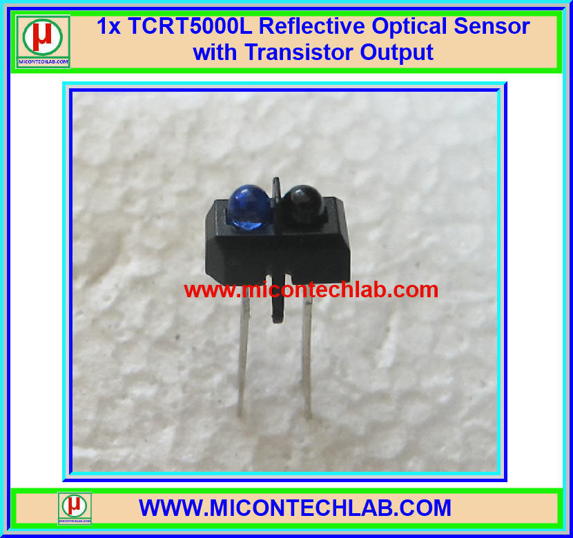 1x TCRT5000L Infrared Reflective Optical Sensor with Transistor Output