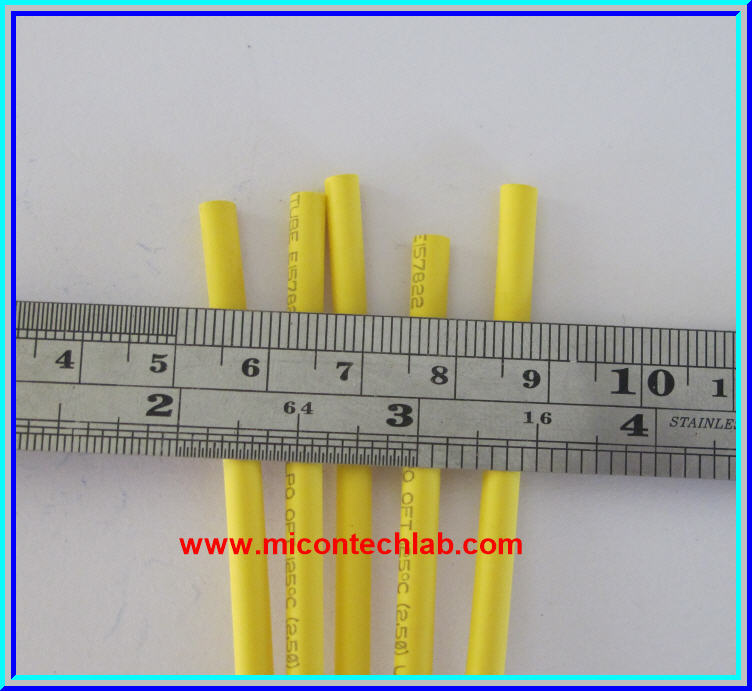 1x Heat Shrink Tube 2.5mm Yellow Color 1 meter Length (ท่อหด)