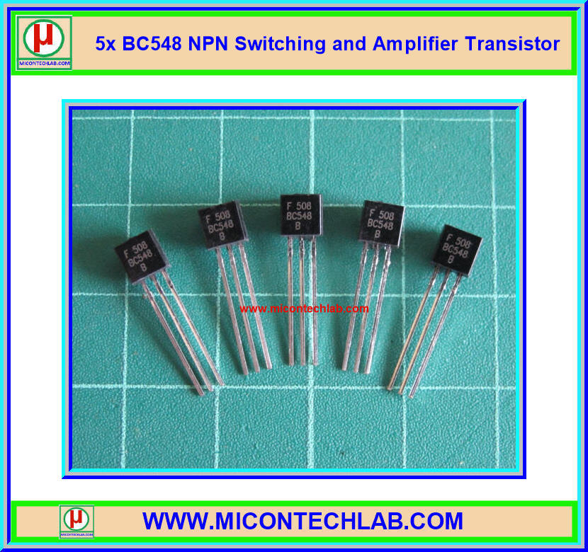 5x BC548 NPN Switching and Amplifier Transistor