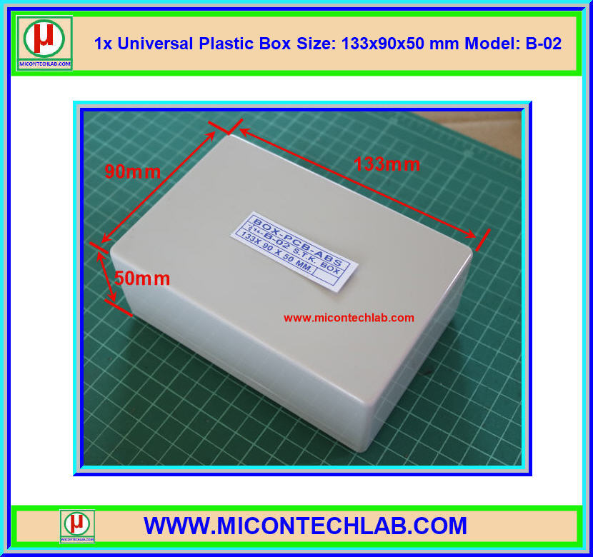 1x Model:B-02 Plastic Box Size:133x90x50mm