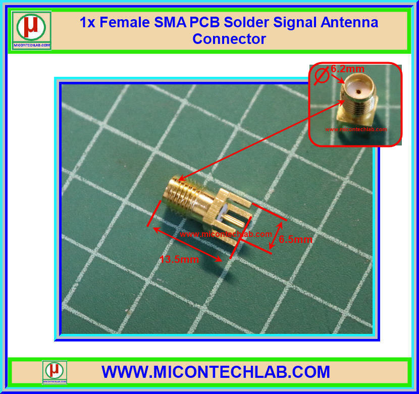 1x Female SMA PCB Solder Signal Antenna SMA Connector