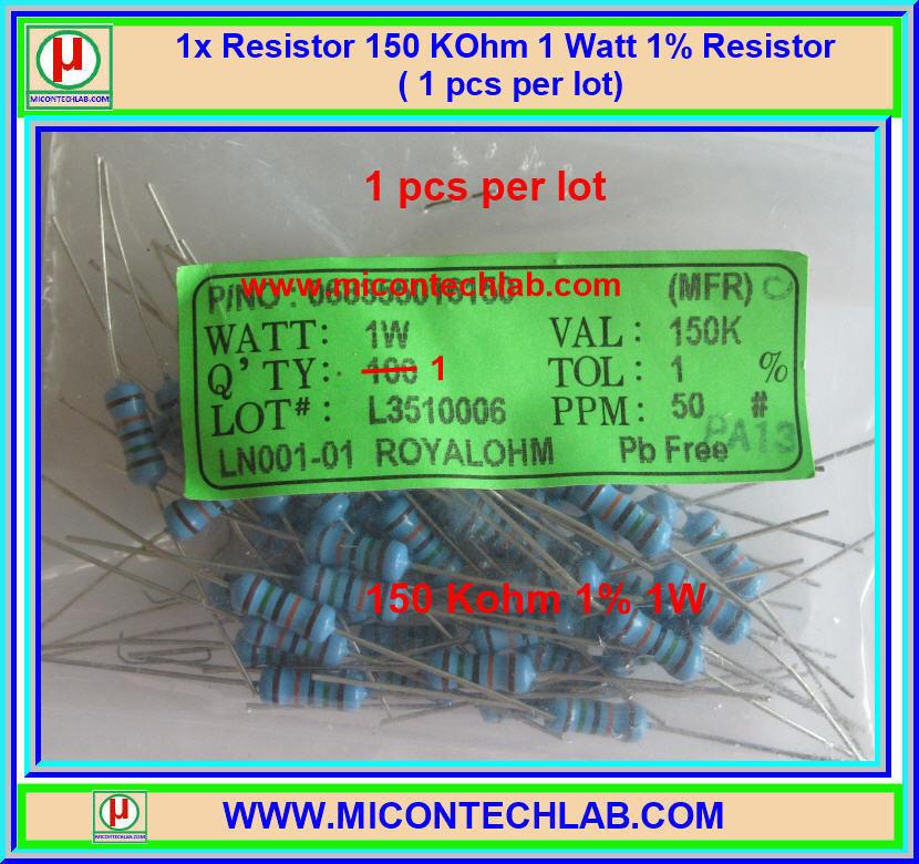 1x Resistor 150 KOhm 1 Watt 1% Resistor ( 1 pcs per lot)