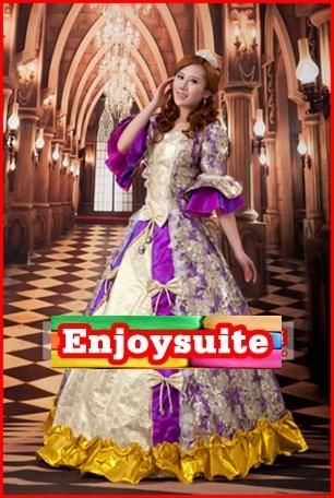 ชุดเจ้าหญิงอลิซาเบธ สีม่วง