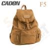 Caden F5 Retro Canvas DSLR Camera Backpack (Khaki)