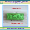 100x Resistor 470 Ohm 1/8 Watt 1% Metal film Resistor (100pcs per lot)