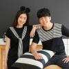 เสื้อคู่ เสื้อคู่รัก ชุดคู่รัก เสื้อคู่รักเกาหลี เสื้อคู่แฟชั่น ผูกผ้าสบายๆ ADX023
