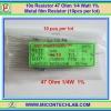 10x Resistor 47 Ohm 1/4 Watt 1% Metal film Resistor (10pcs per lot)