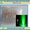 50x LED 5mm Green Water Clear Super Bright (50pcs per lot)