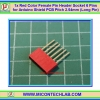1x Red Color Female Pin Header 6 Pins Pitch 2.54mm (Long Pin)