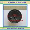 1x Speaker 8 Ohm 0.25 W Diameter 2.25 inch