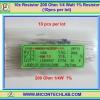 10x Resistor 200 Ohm 1/4 Watt 1% Resistor (10pcs per lot)