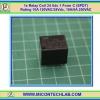 1x Relay Coil 24 Vdc 1 Form C (SPDT) Rating 10A 120VAC/24Vdc, 10A/6A 250VAC