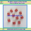 10x Mini Jumper 2 Pins Female Pitch 2.54mm Red Color