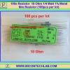 100x Resistor 10 Ohm 1/4 Watt 1% Metal film Resistor (100pcs per lot)