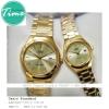 """นาฬิกาคู่ นาฬิกาข้อมือคู่ นาฬิกาข้อมือคู่รัก ยี่ห้อ CASIO CLASSIC """"GOLD"""""""
