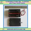 1x AA Battery Holder Box 3x AA Size with Power On/Off Switch (กล่องถ่านแบบมีฝาปิดขนาด 3 ก้อนพร้อมสวิตซ์เปิดปิด)