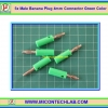 5x Male Banana Plug 4mm Connector Green Color