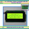 1x LCD 20x4 Yellow backlight with I2C Interface Module