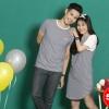 เสื้อคู่ เสื้อคู่รัก ชุดคู่รัก เสื้อคู่รักเกาหลี เสื้อคู่แฟชั่น ลายทาง ADX020