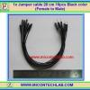 1x Jumper (F2M) cable 20 cm 10pcs Black color (Female to Male)