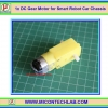 1x DC Gear Motor 3-6 V For Smart Robot Car (มอเตอร์ดีซี)