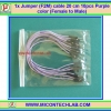 1x Jumper (F2M) cable 20 cm 10pcs Purple color (Female to Male)