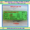 100x Resistor 1 Kohm 1/4 Watt 1% Metal film Resistor (100pcs per lot)
