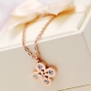 New Clover flower necklace rose gold color