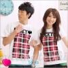 เสื้อคู่รัก ชุดคู่รัก เสื้อคู่ เสื้อคู่รักเกาหลี เสื้อยืดคู่รักพร้อมส่ง เสื้อคู่รักสวยๆ เสื้อยืดคู่รัก แขนสั้นผ้าฝ้าย