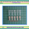 5x Female Crimp Terminal 6.3 mm Connector Plastic Cover (หางปลาปลอกหุ้ม 6.3มม)