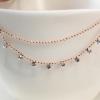 Leprechaun Korean jewelry, double layers diamond