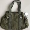 กระเป๋าถือ + สะพายไหล่ สีเขียวขี้ม้า