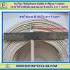 1x Flat Telephone Cable 6 ways AWG26 Length 1 meter (สายไฟโทรศัพท์แบบสายแบน 6 เส้นใน ยาว 1 เมตร)