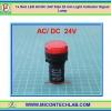 1x Red LED AC/DC 24V Size 22 mm Light Indicator Signal Lamp