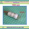 1x ZGA25RP DC Gear Box Motor 12V 1000 rpm Dia 25 mm Shaft Dia 4mm