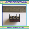 1x Terminal Block Connector 3 Pins Pitch 7.62 mm Barrier Type 300V/15A