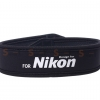 สายคล้องกล้อง Nikon White on Black Neck Strap Neoprene