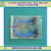 1x Jumper (F2M) cable 20 cm 10pcs Blue color (Female to Male)