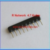 1x Resistor Network 4.7 Kohm 1/8W 5% R-Network 9 PIN Royal Ohm