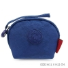 กระเป๋าคล้องมือผ้าลิง สีน้ำเงิน
