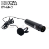 Microphone BOYA BY-M4C Cardiod Lavalier for XLR
