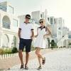 เสื้อคู่ เสื้อคู่รัก ชุดคู่รัก เดรสคอโปโล+เสื้อคอโปโล สีขาว
