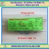 10x Resistor 47 KOhm 1/4 Watt 1% Resistor (10pcs per lot)