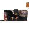 กระเป๋าสตางค์ Chalita wu สีดำ ลายโปสการ์ด